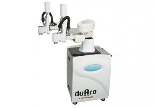 """Kawasaki Robot """"duAro"""" Dual-arm SCARA Robot At PRODUCTRONICA"""